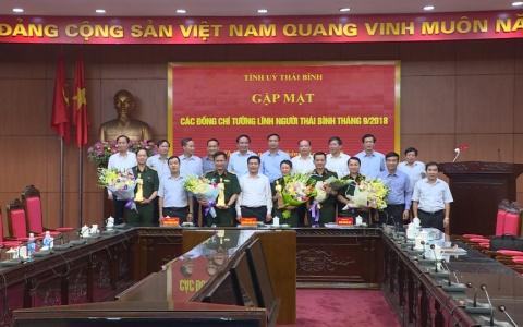Gặp mặt các đồng chí tướng lĩnh người Thái Bình