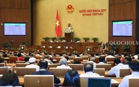 Quốc hội thảo luận tại hội trường về dự thảo Luật Kiến trúc