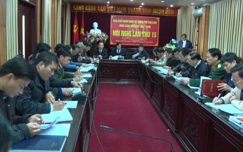 Ban Chấp hành Đảng bộ Thành phố khóa 27, nhiệm kỳ 2015- 2020 tổ chức Kỳ họp thứ 5